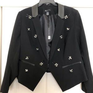 Lane Bryant Black Embellished Jacket